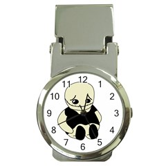 Halloween sad monster Money Clip Watches