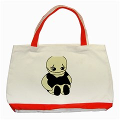 Halloween sad monster Classic Tote Bag (Red)