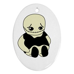 Halloween sad monster Oval Ornament (Two Sides)