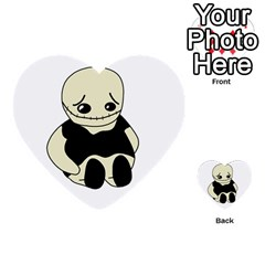 Halloween sad monster Multi-purpose Cards (Heart)
