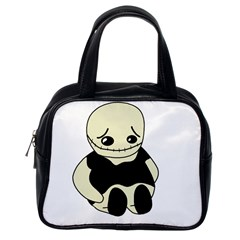Halloween sad monster Classic Handbags (One Side)