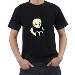 Halloween sad monster Men s T-Shirt (Black)
