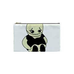 Halloween sad monster Cosmetic Bag (Small)