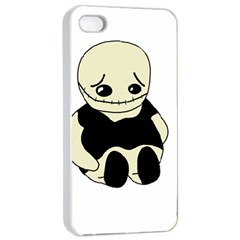 Halloween sad monster Apple iPhone 4/4s Seamless Case (White)