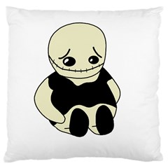 Halloween sad monster Large Cushion Case (Two Sides)