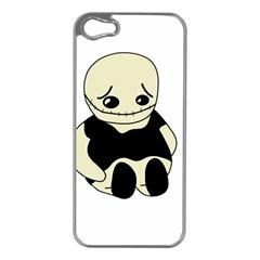 Halloween sad monster Apple iPhone 5 Case (Silver)