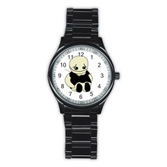 Halloween sad monster Stainless Steel Round Watch