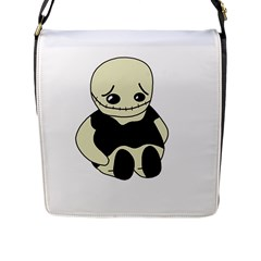Halloween sad monster Flap Messenger Bag (L)
