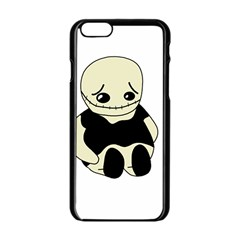 Halloween sad monster Apple iPhone 6/6S Black Enamel Case