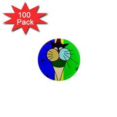 Ice cream cat 1  Mini Magnets (100 pack)