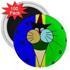 Ice cream cat 3  Magnets (100 pack)