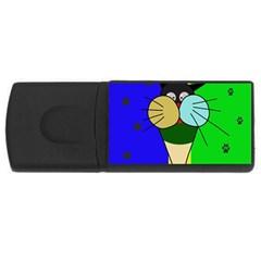 Ice cream cat USB Flash Drive Rectangular (2 GB)