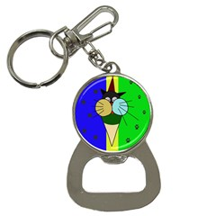 Ice cream cat Bottle Opener Key Chains