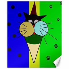 Ice cream cat Canvas 16  x 20
