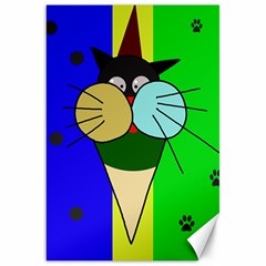 Ice cream cat Canvas 20  x 30