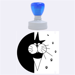 Ice cream cat Rubber Round Stamps (Large)