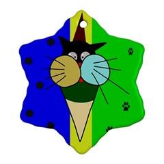 Ice cream cat Ornament (Snowflake)