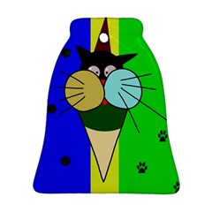 Ice cream cat Bell Ornament (2 Sides)