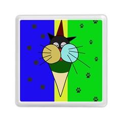 Ice cream cat Memory Card Reader (Square)