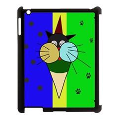 Ice cream cat Apple iPad 3/4 Case (Black)
