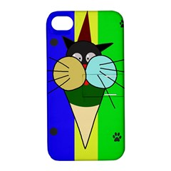 Ice cream cat Apple iPhone 4/4S Hardshell Case with Stand