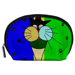 Ice cream cat Accessory Pouches (Large)
