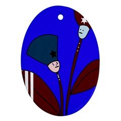 Soldier flowers  Ornament (Oval)