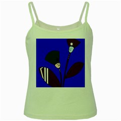 Soldier flowers  Green Spaghetti Tank