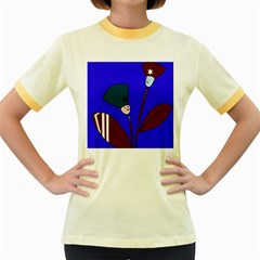 Soldier flowers  Women s Fitted Ringer T-Shirts