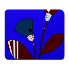 Soldier flowers  Large Mousepads