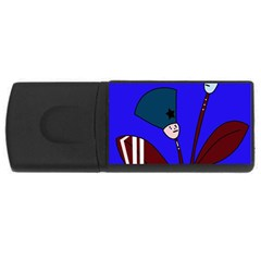 Soldier flowers  USB Flash Drive Rectangular (4 GB)