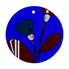 Soldier flowers  Round Ornament (Two Sides)