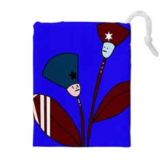 Soldier flowers  Drawstring Pouches (Extra Large)
