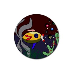 Fish Rubber Round Coaster (4 pack)