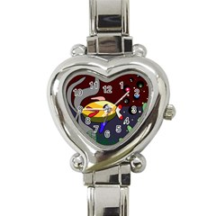 Fish Heart Italian Charm Watch