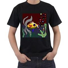 Fish Men s T-Shirt (Black)