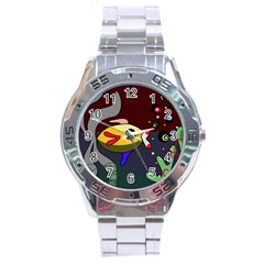 Fish Stainless Steel Analogue Watch