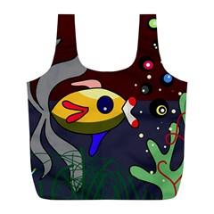 Fish Full Print Recycle Bags (L)