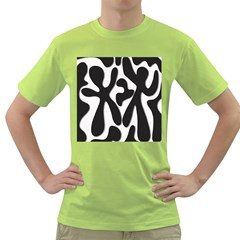 Black and white dance Green T-Shirt