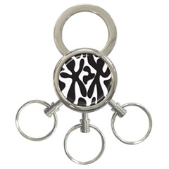 Black and white dance 3-Ring Key Chains