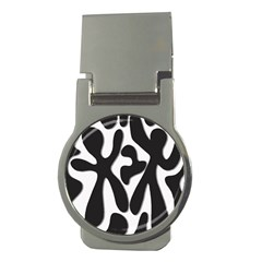 Black and white dance Money Clips (Round)