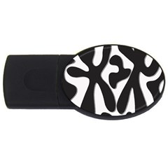 Black and white dance USB Flash Drive Oval (2 GB)