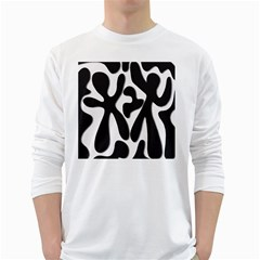 Black and white dance White Long Sleeve T-Shirts