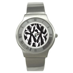 Black and white dance Stainless Steel Watch