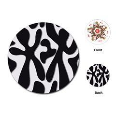 Black and white dance Playing Cards (Round)