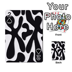 Black and white dance Playing Cards 54 Designs