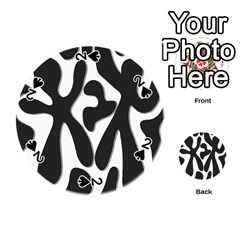 Black and white dance Playing Cards 54 (Round)