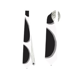 Black and white dance Neckties (One Side)