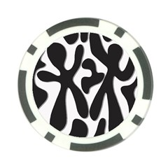 Black and white dance Poker Chip Card Guards