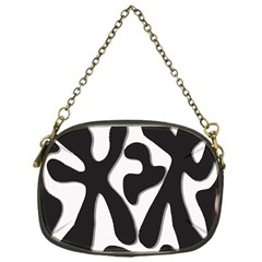 Black and white dance Chain Purses (One Side)